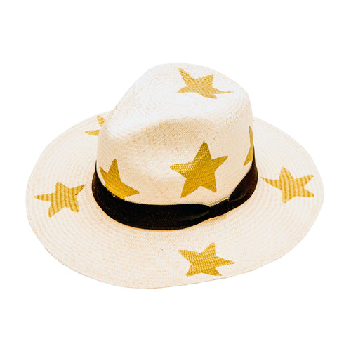 Gold Large Star: Straw Hat