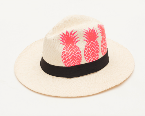 Hand Painted Pink Pineapple