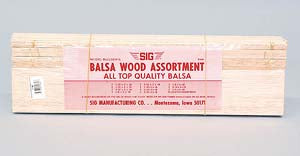 "BALSA WOOD ASSORTMENT 4"" X 36"""