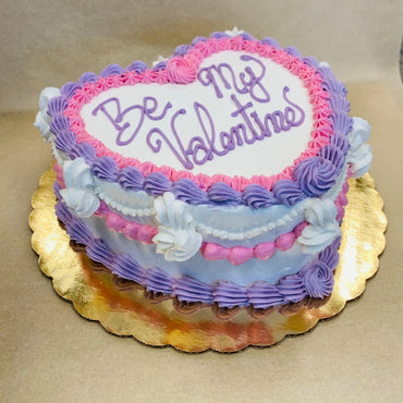 Heart Shaped Valentine's Day Cake