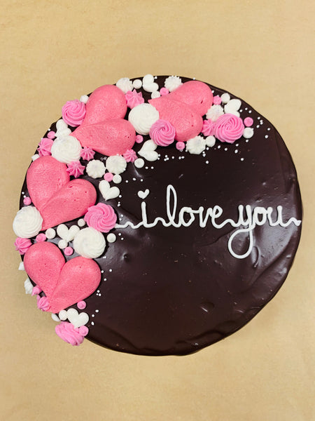 Valentine's Day Mixed Berry Ganache Cake