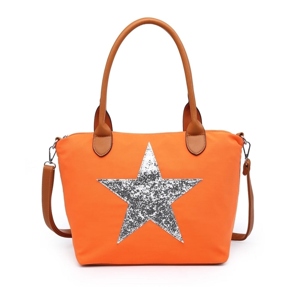 Medium Soft Touch Star Bag - Orange