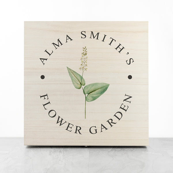 PERSONALISED FLOWER GARDEN ACCESSORIES BOX