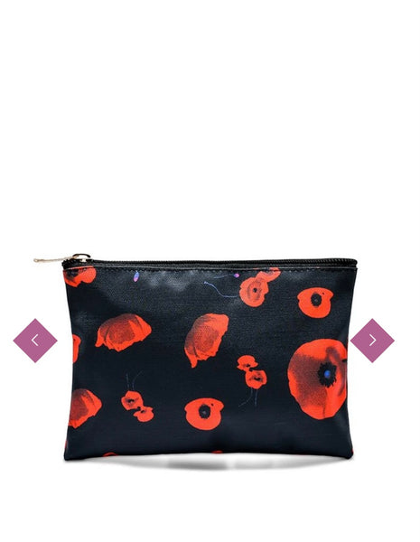 Poppy Print Mini Clutch