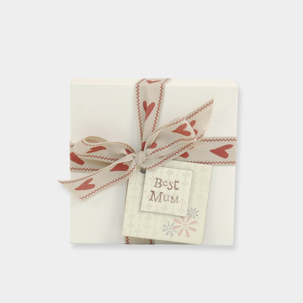 note pad with ribbon for 'best mum'
