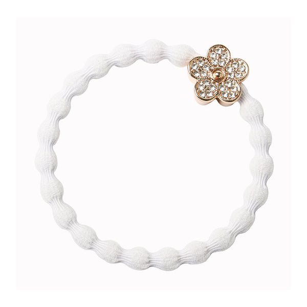 Bangle Band Bling Flower White