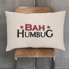 East Of India Bah-Humbug Long Cushion
