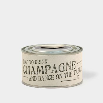 Tin Candle - Drink Champagne