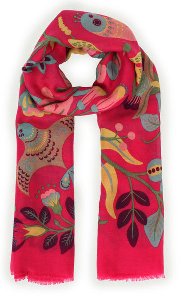 South American Floral Print Scarf