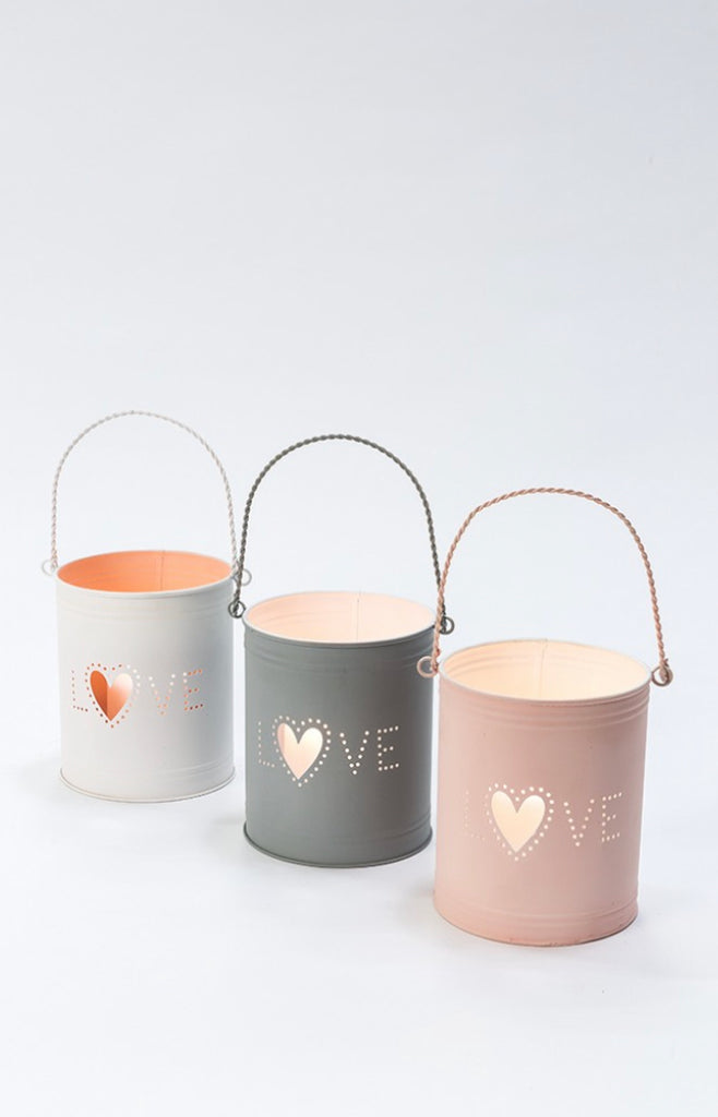 Metal Tea light holder - Love