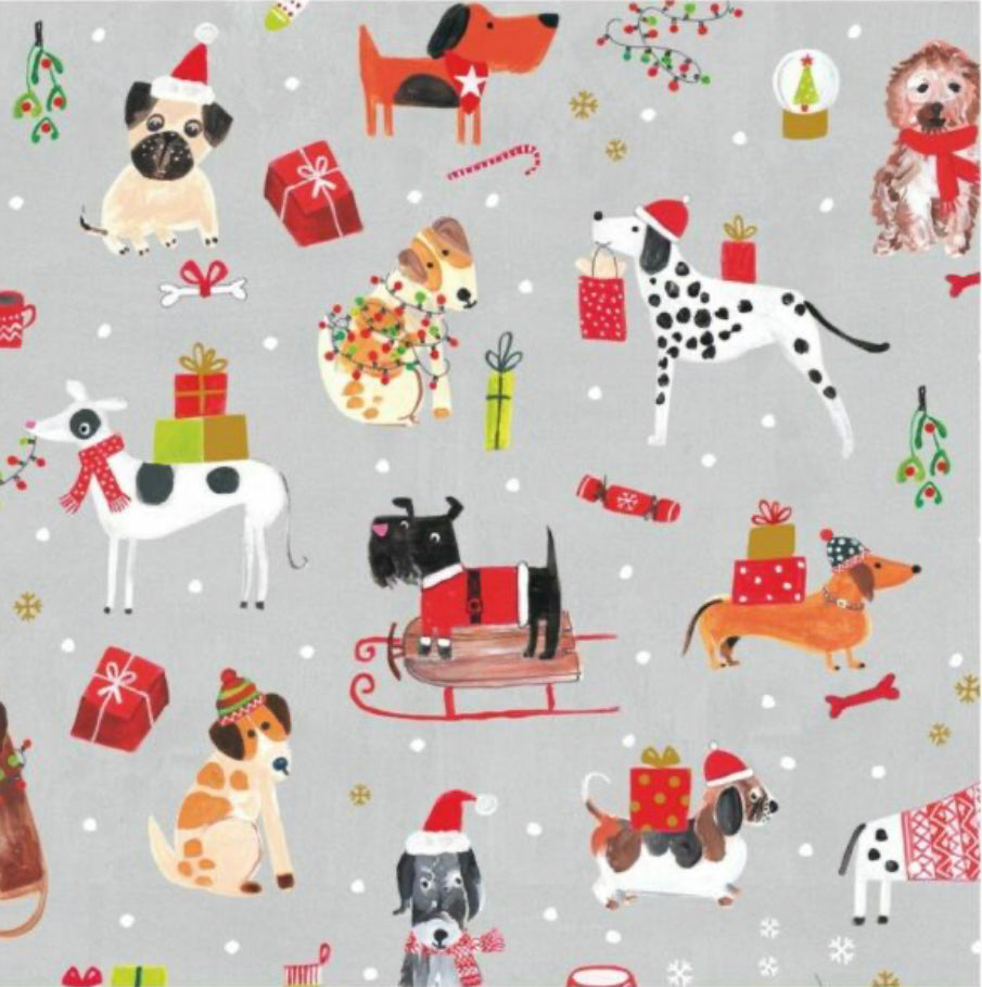 Christmas Napkins - Dogs