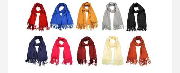 Wool Mix Scarf (Colours)