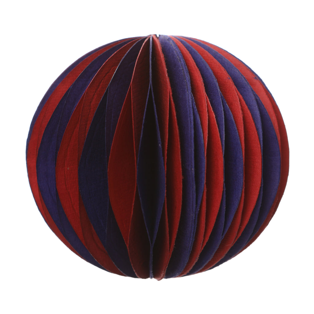 Magic Paper Bauble Red/Purple 8Cm