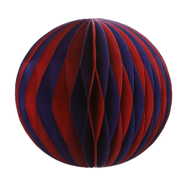 Magic Paper Bauble Red/Purple 12Cm