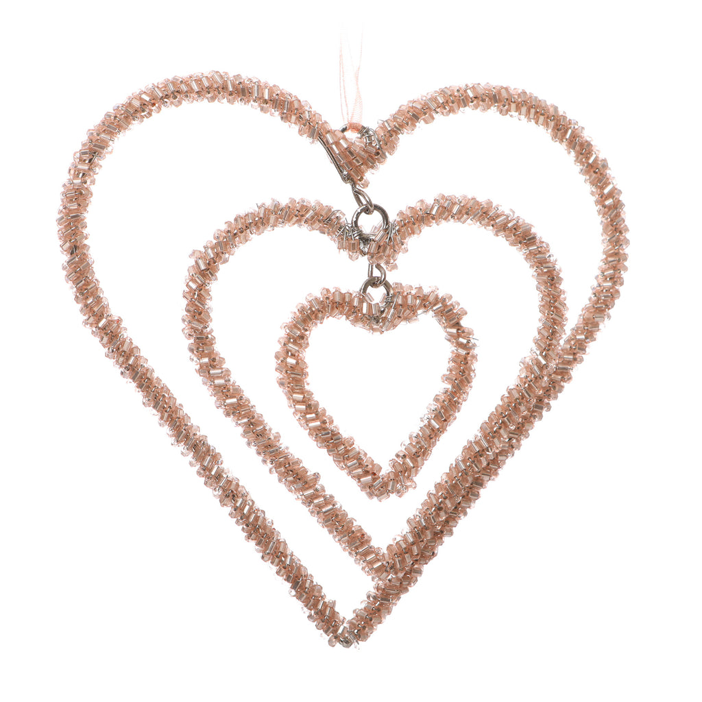 Magic Bead Triple Heart Gold 12Cm