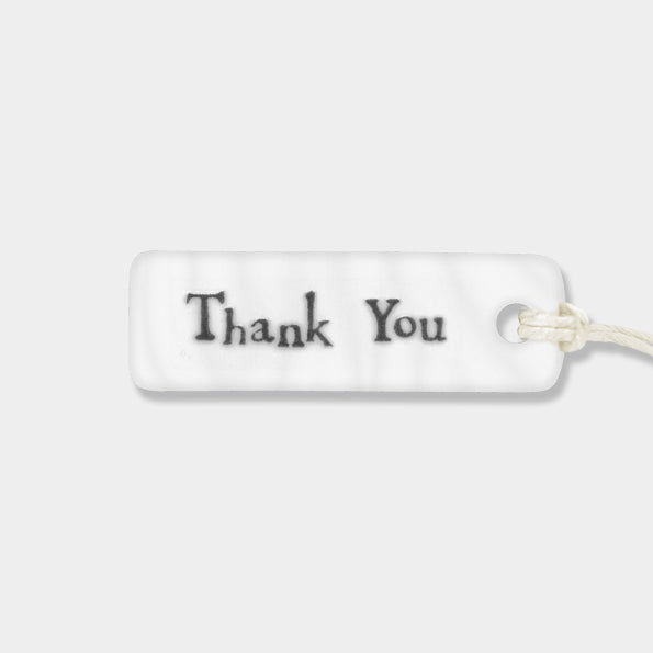 Porcelain Tag - Thank You