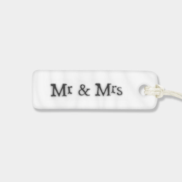 Porcelain Tag Mr & Mrs