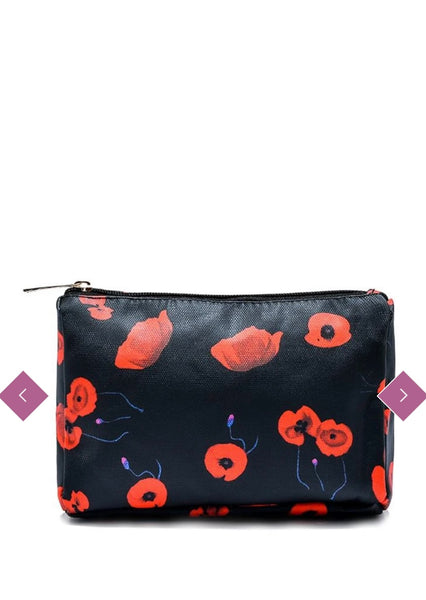 Poppy Print Cosmetic Bag