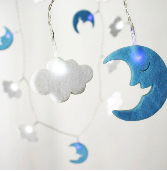 Felt Cloud Fairy Lights
