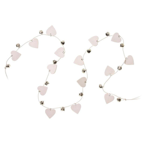 White heart and silver bell wedding garland