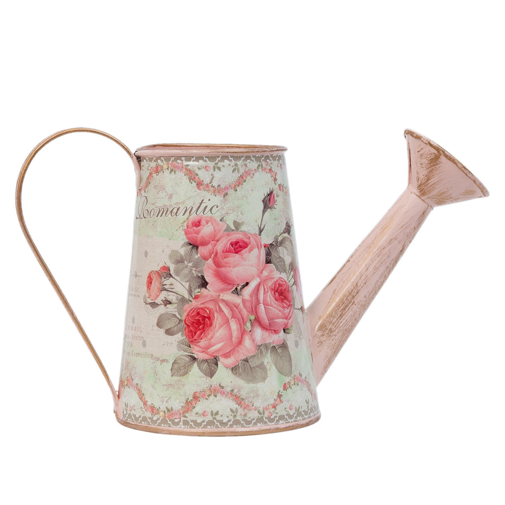 pink rose vintage watering can