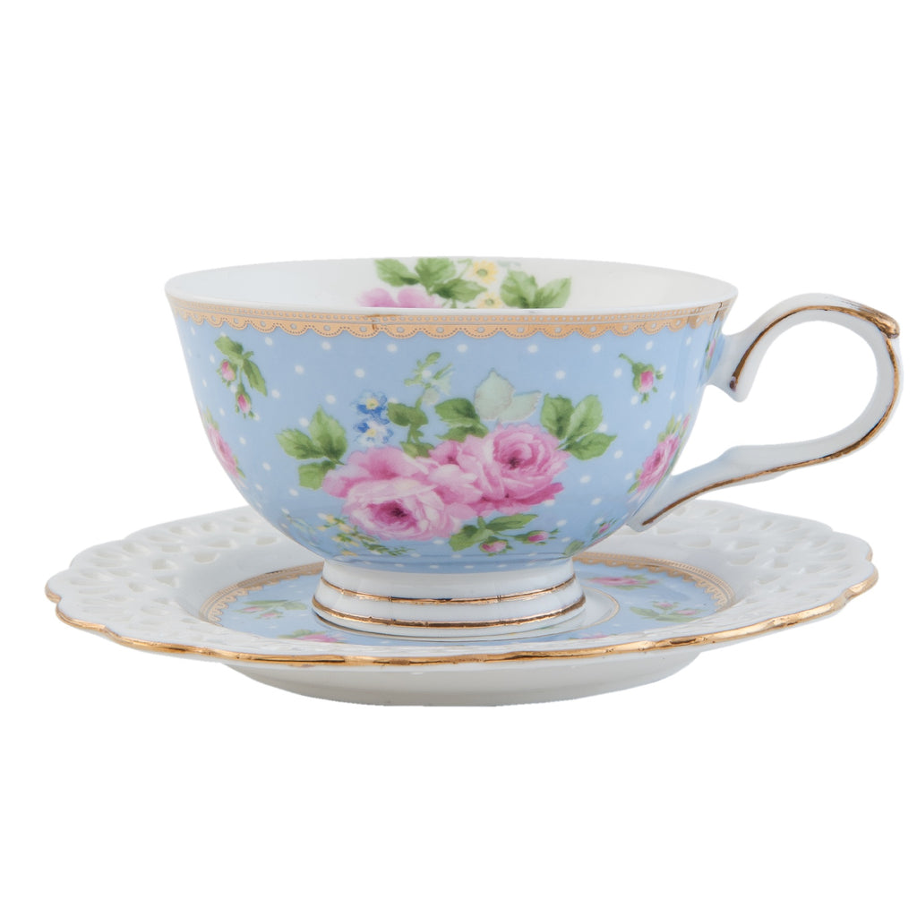Floral Cup & Saucer