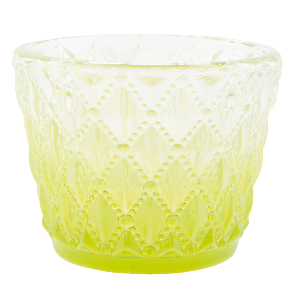 Green Pattern Tealight Holder