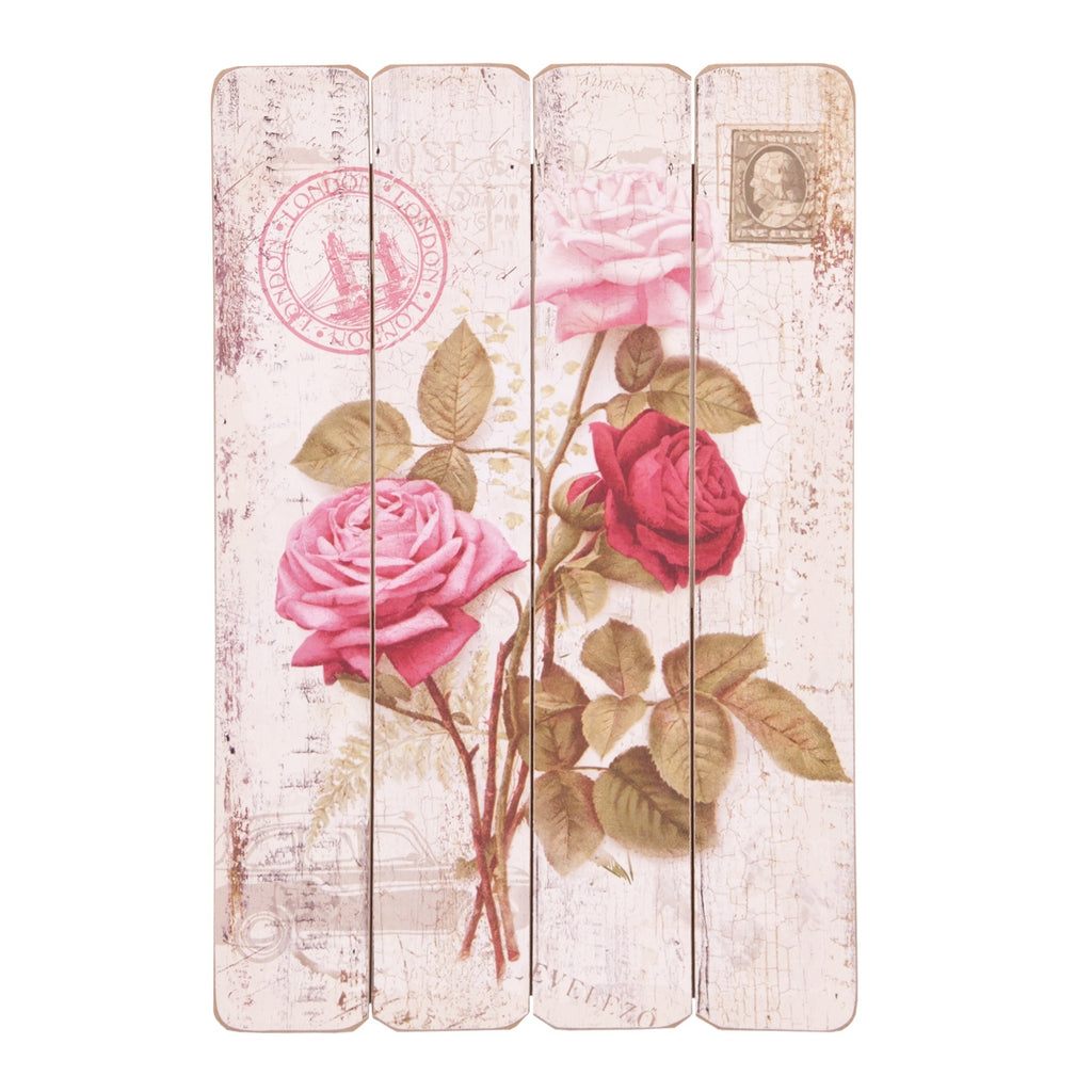 Roses Wooden Plaque