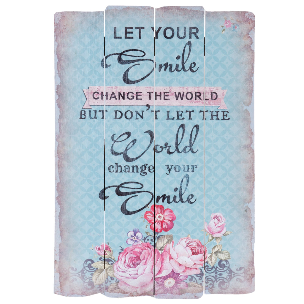 Let Your Smile Change The World Quote Board
