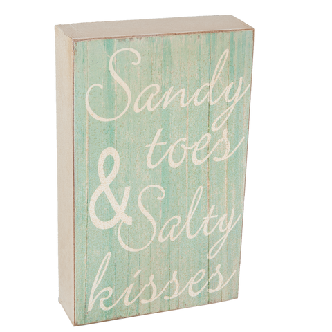 Sandy Toes & Salty Kisses Mini Standing Plauqe