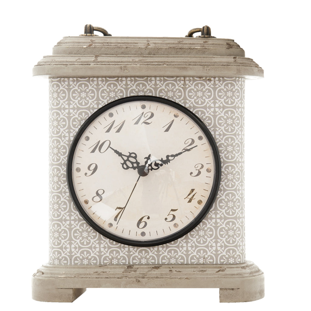 Grey Mantel Clock