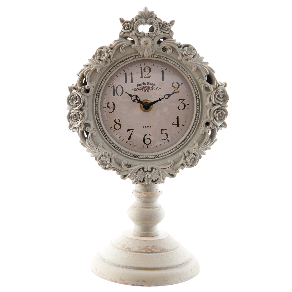 Grey Ornate Wooden Standing Clocks