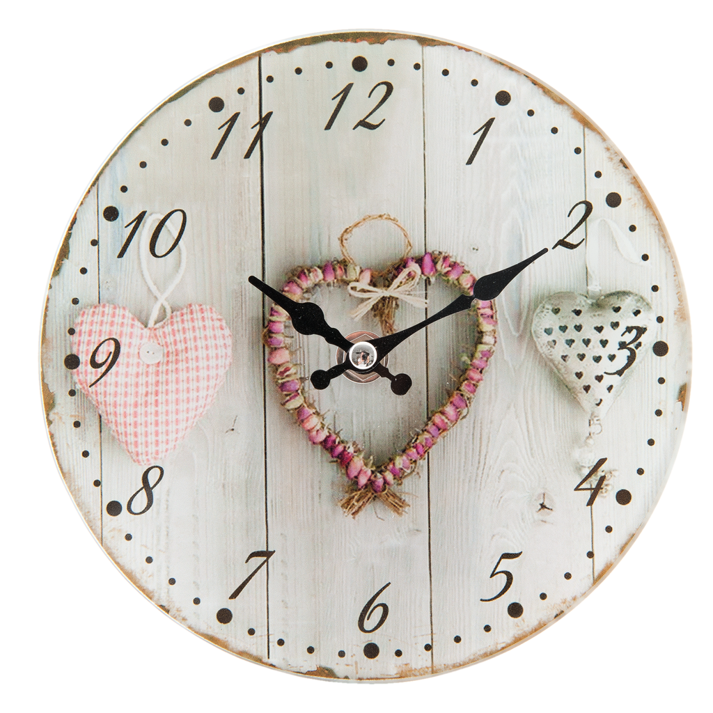 Mini Glass Love Clock