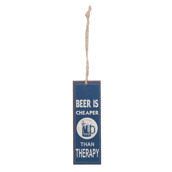 Iron Bookmark - Beer Is Cheaper