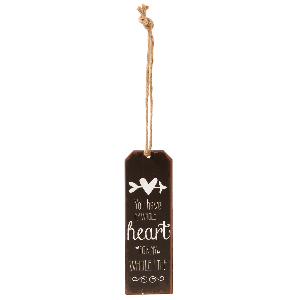 Iron Bookmark - You Have My Whole Heart