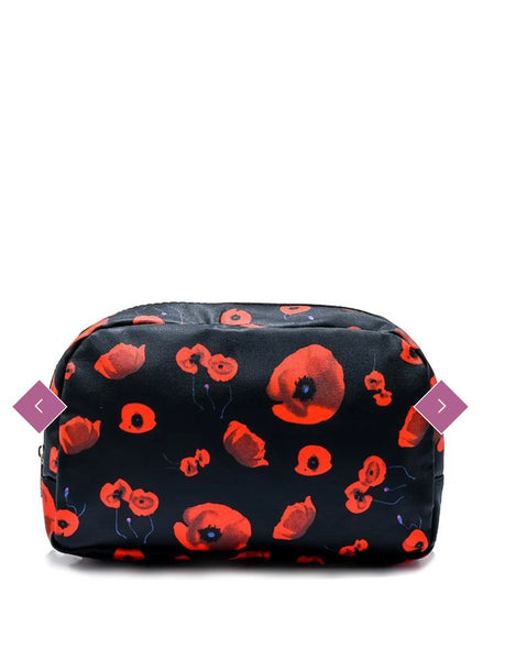 Poppy Print Wash Bag