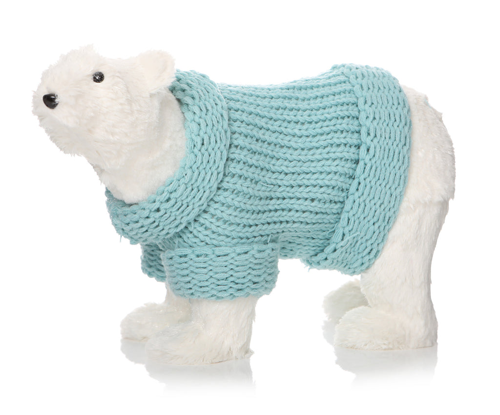 Sparkle Polar Bear W/Jumper 33Cm