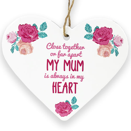 Floral Ceramic Heart - Mum
