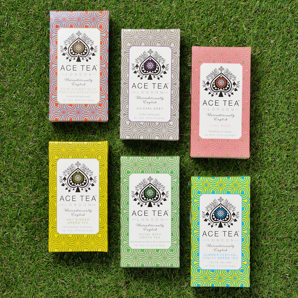 6 teas in 6 flavours in boxes