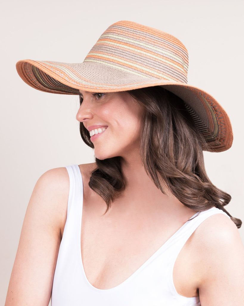 Allegra Stripe Satsuma Summer Hat