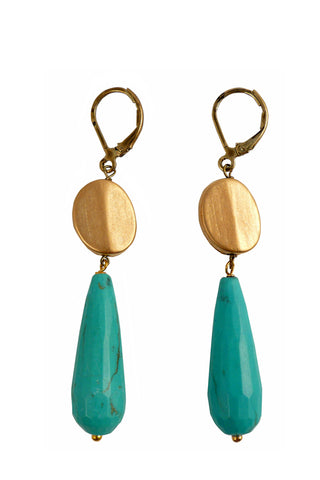 Turquoise Agate Earrings
