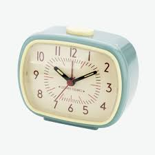 Retro Alarm Clock Light Blue