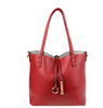 Red Leather reversible tote bag