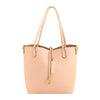 Peach Leather reversible tote bag