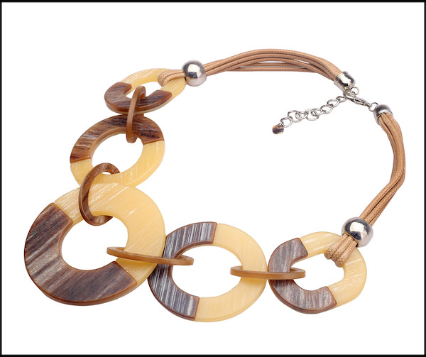 Horn Effect Necklace - Brown
