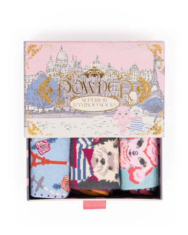 Parisian Scene Ladies Sock Gift Box