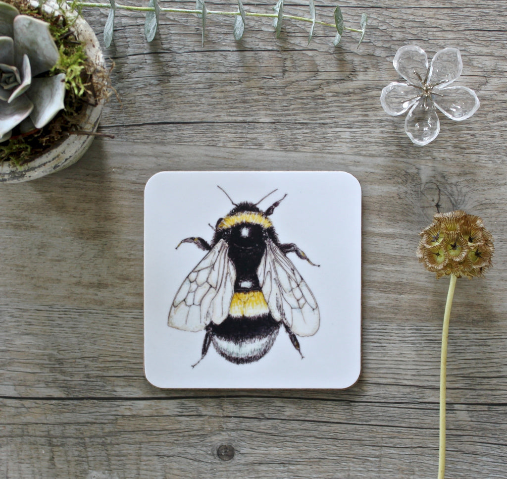 Toasted Crumpet Set of 4 Coasters - Bee