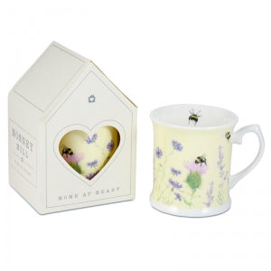 Bee & Flower Yellow Mug