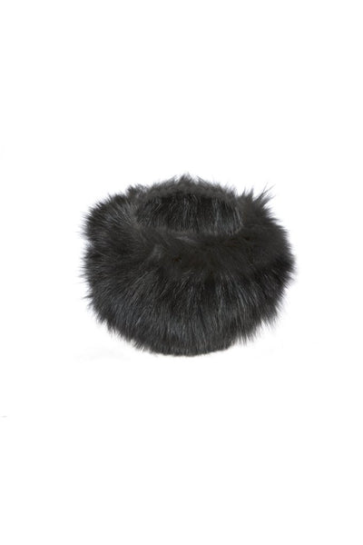 Luxury fox fur headband Black/Grey