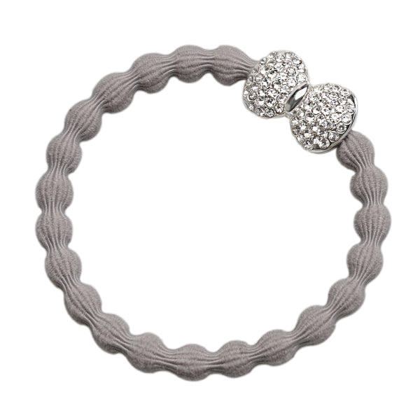 Bangle Band Bling Bow Grey